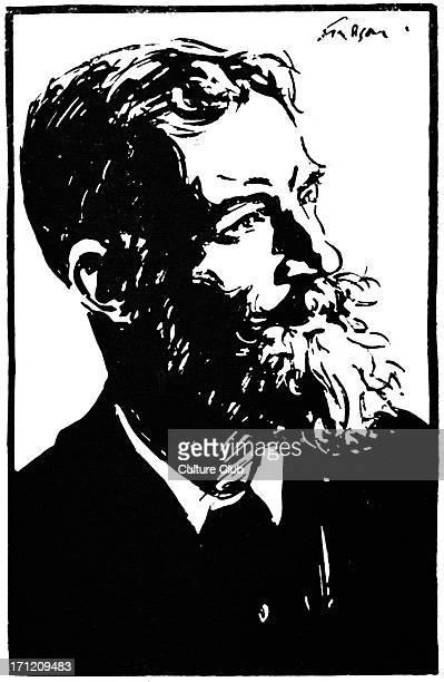 George Bernard Shaw portrait of the Irish author playwright 1924 GBS 26 July 1856 2 November 1950 Illustration by Joseph Simpson
