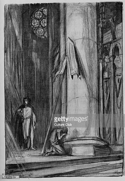 George Bernard Shaw the Irish author 's play 'Saint Joan' GBS 26 July 1856 2 November 1950 Illustration by Charles Ricketts