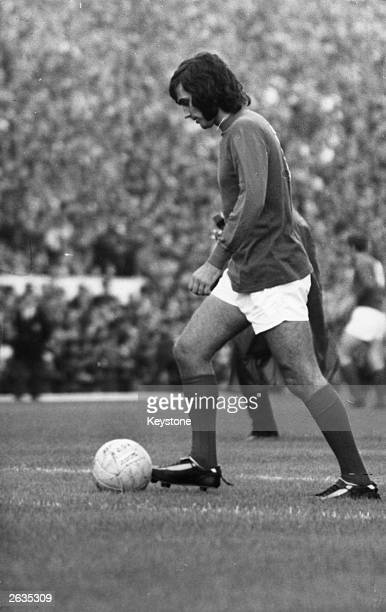 George Best of Manchester United before a match against Arsenal