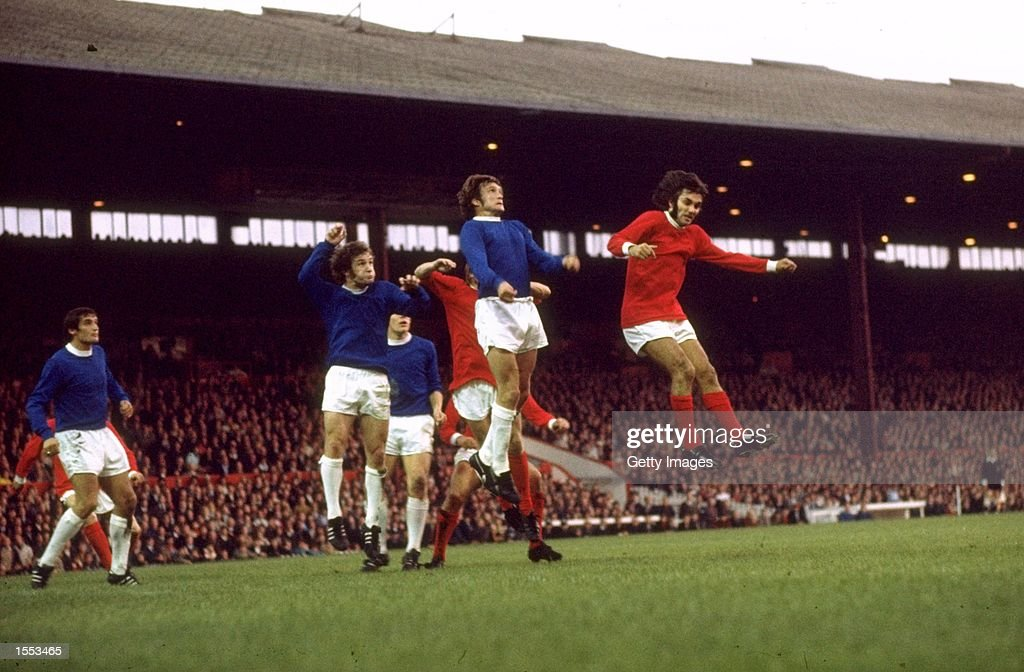 <a gi-track='captionPersonalityLinkClicked' href=/galleries/search?phrase=George+Best&family=editorial&specificpeople=206235 ng-click='$event.stopPropagation()'>George Best</a> of Manchester United in action during the Division One match against Everton played at Old Trafford in Manchester, England. \ Mandatory Credit: Allsport UK /Allsport