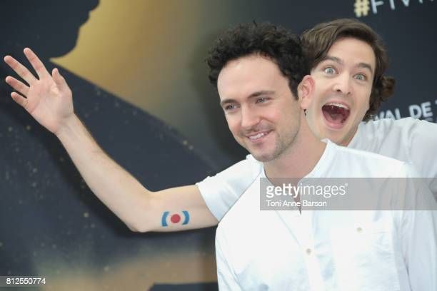 George Blagden and Alexander Vlahos attend photocall for 'Versailles' on June 17 2017 at the Grimaldi Forum in MonteCarlo Monaco
