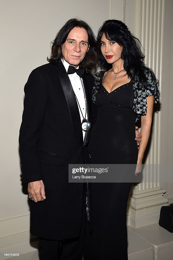 George Blodwell and Demet Oger attend the Elton John AIDS Foundation's 12th Annual An Enduring Vision Benefit at Cipriani Wall Street on October 15, 2013 in New York City.