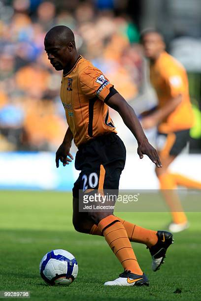 George Boateng of Hull City during the Barclays Premier League match between Hull City and Liverpool at the KC Stadium on May 9 2010 in Hull England