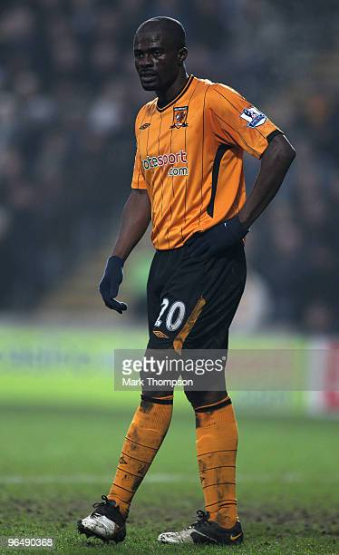 George Boateng of Hull City in action during the Barclays Premier League match between Hull City and Manchester City at the KC Stadium on February 6...