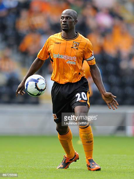 George Boateng of Hull City in action during the Pre Season Friendly between Hull City and Aberdeen at the KC Stadium on August 9 2009 in Hull England