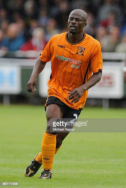 George Boateng of Hull during the North Ferriby United v Hull City friendly match at the Church Road Stadium on July 18 2009 in North Ferriby England