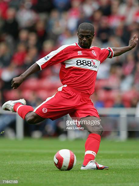 George Boateng of Middlesbrough during the Colin Cooper Benefit Match between Middlesbrough and Chievo Verona at the Riverside Stadium on August 12...