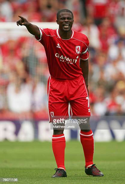 George Boateng of Middlesbrough in action during the Barclays Premiership match between Middlesbrough and Blackburn Rovers at the Riverside Stadium...