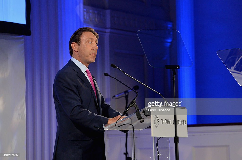 George Bodenheimer speaks onstage the Paley Prize Gala honoring ESPN's 35th anniversary presented by Roc Nation Sports on May 28, 2014 in New York City.
