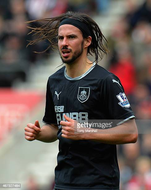 George Boyd of Burnley during the Barclays Premier League match between Southampton and Burnley at St Mary's Stadium on March 21 2015 in Southampton...
