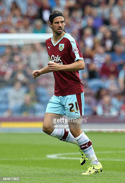 George Boyd of Burnley during the Sky Bet Championship match between Burnley and Brentford at Turf Moor on August 22 2015 in Burnley England