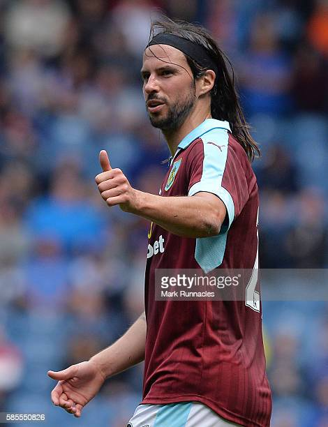 George Boyd of Burnley in action during a preseason friendly between Rangers FC and Burnley FC at Ibrox Stadium on July 30 2016 in Glasgow Scotland