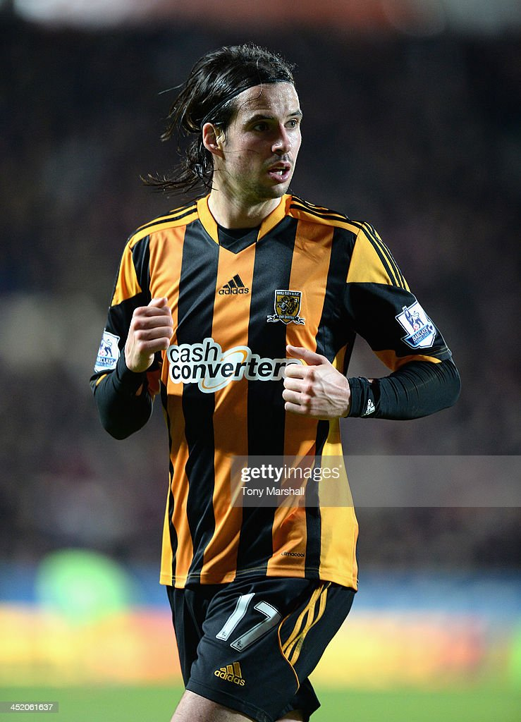 <a gi-track='captionPersonalityLinkClicked' href=/galleries/search?phrase=George+Boyd&family=editorial&specificpeople=4784161 ng-click='$event.stopPropagation()'>George Boyd</a> of Hull City during the Barclays Premier League match between Hull City and Crystal Palace at KC Stadium on November 23, 2013 in Hull, England.