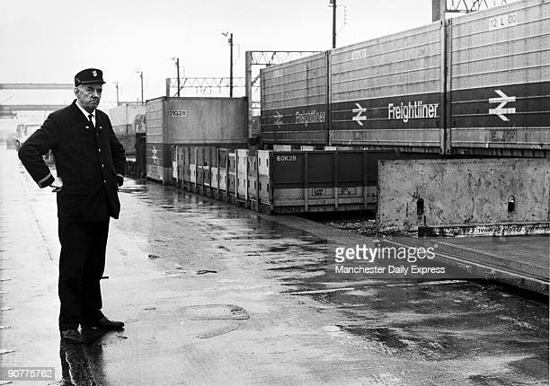 George Bradley the terminal overseer at the Longsight Freightliner Depot makes a face