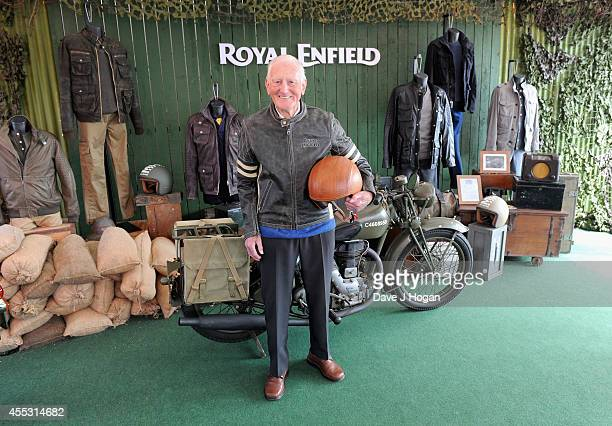 George Brown aged 91 helps to celebrate the unveiling of the new Royal Enfield accessory range inspired by World War II dispatch riders at the...