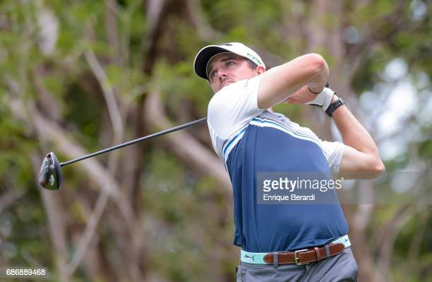 George Bryan of the United States tees off on the 16th hole during the continuation of the first round of the PGA TOUR Latinoamerica Essential Costa...
