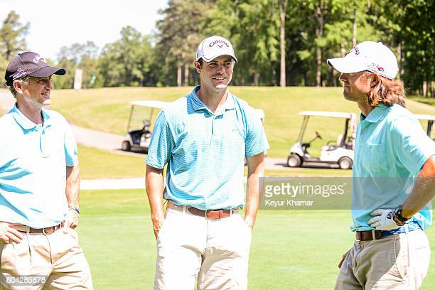 George Bryan Sr Wesley Bryan and George Bryan IV share a laugh at Carolina Club on May 24 2016 in Prosperity South Carolina