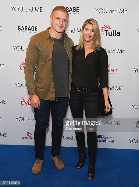 George Burgess and Joanna King arrive ahead of the YOU and ME World world premiere at Event Cinemas Bondi Junction on April 26 2016 in Sydney...