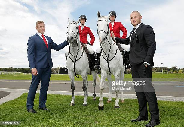 George Burgess and Thomas Burgess pose during the 2015 Sydney Spring Carnival launch at Royal Randwick Racecourse on September 3 2015 in Sydney...