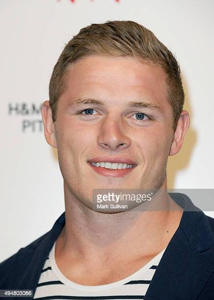 George Burgess arrives at the HM Sydney Flagship Store VIP Party on October 29 2015 in Sydney Australia