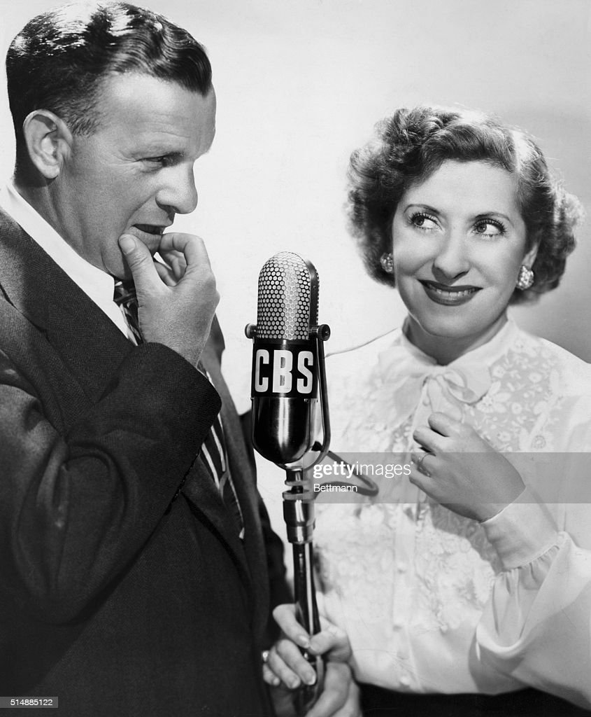 George Burns and Gracie Allen in undated photograph