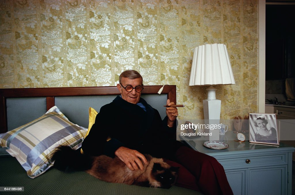 George Burns at Home with His Cat