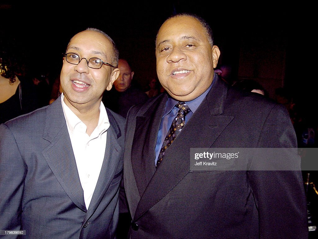George C Wolfe and Barry Shabaka Henley during HBO Films' Lackawanna Blues Premiere Red Carpet at DGA in Los Angeles California United States