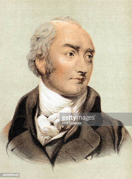 George Canning English statesman Catholic emancipation foreign affairs and Prime Minister from 1827 Tinted lithograph
