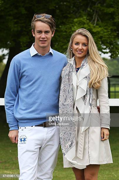 George Churchill and Camilla Thorp at the Maserati Jerudong Park Trophy at Cirencester Park Polo Club on May 24 2015 in Cirencester England