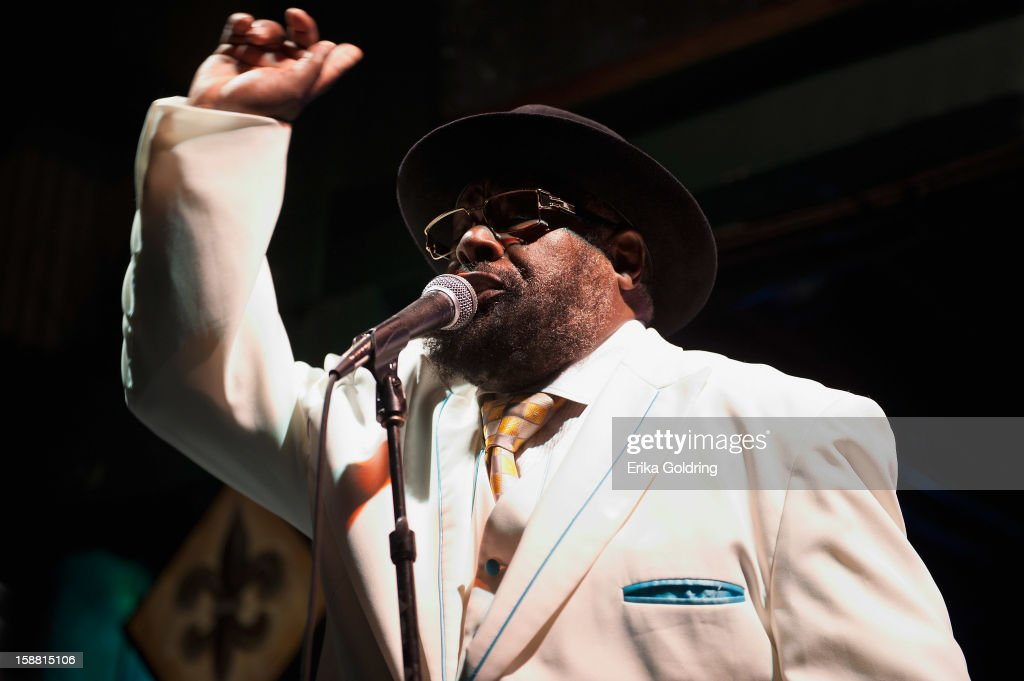 <a gi-track='captionPersonalityLinkClicked' href=/galleries/search?phrase=George+Clinton&family=editorial&specificpeople=224677 ng-click='$event.stopPropagation()'>George Clinton</a> of <a gi-track='captionPersonalityLinkClicked' href=/galleries/search?phrase=George+Clinton&family=editorial&specificpeople=224677 ng-click='$event.stopPropagation()'>George Clinton</a> and Parliament Funkadelic performs at Tipitina's on December 29, 2012 in New Orleans, Louisiana.