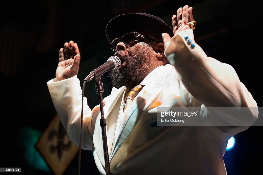 George Clinton of George Clinton and Parliament Funkadelic performs at Tipitina's on December 29, 2012 in New Orleans, Louisiana.