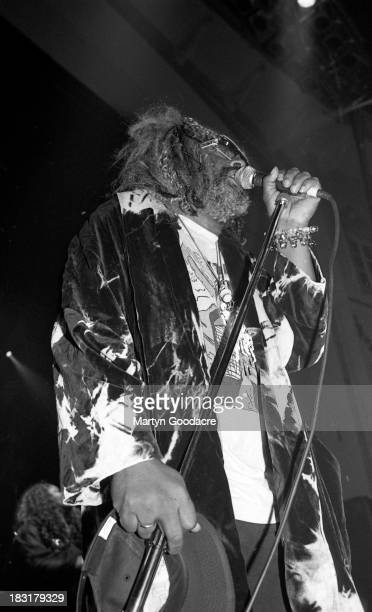 George Clinton performs on stage with Primal scream brixton 1994 00jpg ParliamentFunkadelic is a funk soul and rock music collective headed by George...