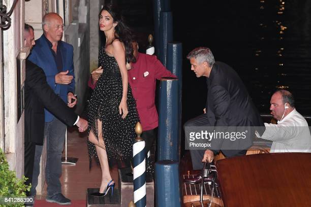 George Clooney and Amal Clooney are seen during the 74th Venice Film Festival on August 31 2017 in Venice Italy