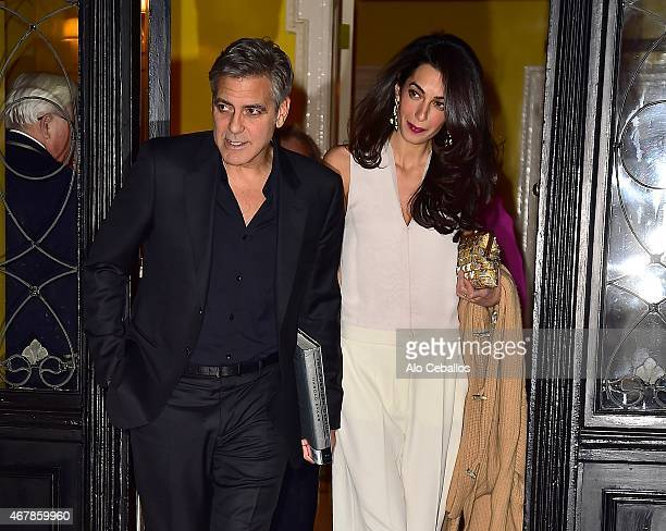 George Clooney and Amal Clooney are seen in the Upper East Side on March 27 2015 in New York City
