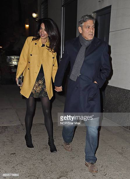 George Clooney and Amal Clooney are seen on March 7 2015 in New York City