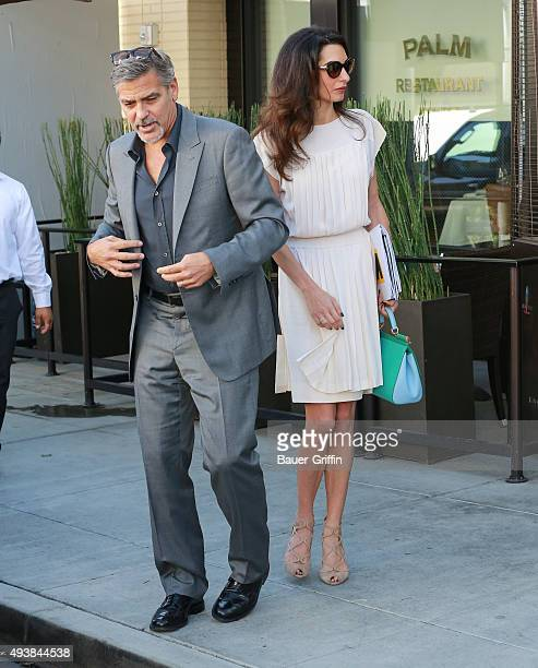 George Clooney and Amal Clooney are seen on October 22 2015 in Los Angeles California