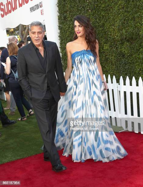 George Clooney and Amal Clooney at the Premiere of Paramount Pictures' 'Suburbicon' at Regency Village Theatre on October 22 2017 in Westwood...