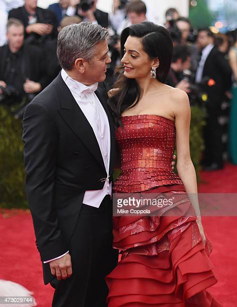 George Clooney and Amal Clooney attend the 'China Through The Looking Glass' Costume Institute Benefit Gala at the Metropolitan Museum of Art on May...