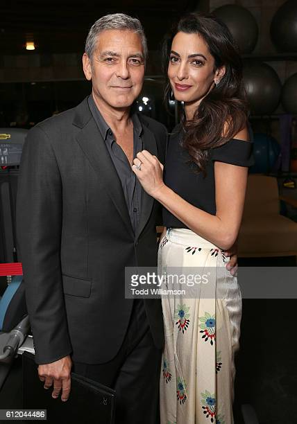 George Clooney and Amal Clooney attend the MPTF 95th anniversary celebration with 'Hollywood's Night Under The Stars' at MPTF Wasserman Campus on...