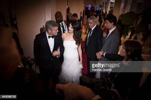 George Clooney and Amal Clooney prior to the Cesar Film Awards Ceremony at Salle Pleyel on February 24 2017 in Paris France