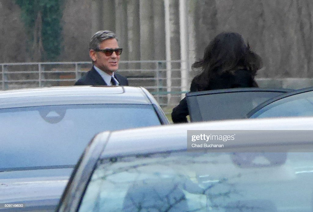 <a gi-track='captionPersonalityLinkClicked' href=/galleries/search?phrase=George+Clooney&family=editorial&specificpeople=202529 ng-click='$event.stopPropagation()'>George Clooney</a> and Amal Clooney sighted at the German Bundeskanzleramt on February 12, 2016 in Berlin, Germany.