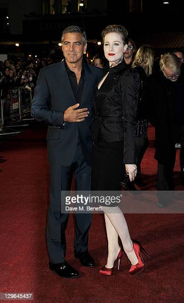 George Clooney and Evan Rachel Wood attend a Gala Screening of 'The Ides Of March' during the 55th BFI London Film Festival at Odeon Leicester Square...