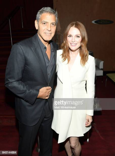 George Clooney and Julianne Moore attend the premiere of 'Suburbicon' during the 2017 Toronto International Film Festival at Princess of Wales on...
