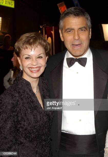 George Clooney and mom Nina Warren Clooney during 'Ocean's Twelve' Los Angeles Premiere Arrivals at Grauman's Chineese Theater in Los Angeles...