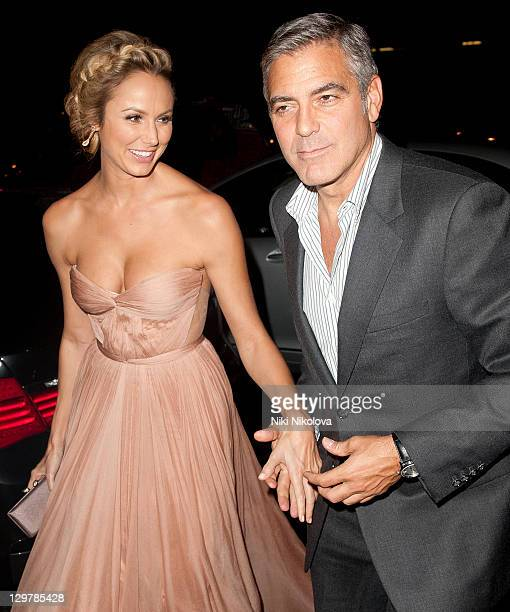 George Clooney and Stacy Keibler sighting on October 20 2011 in London England
