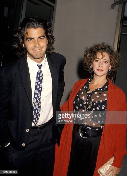 George Clooney and Talia Balsam at the Century Plaza Hotel in Century City California