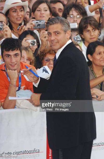 AP OUT George Clooney arrives for the Ceremonia Di Premiazione Ufficiale at the Palazzo del Casino in Venice Italy Saturday 10 September 2005 for the...