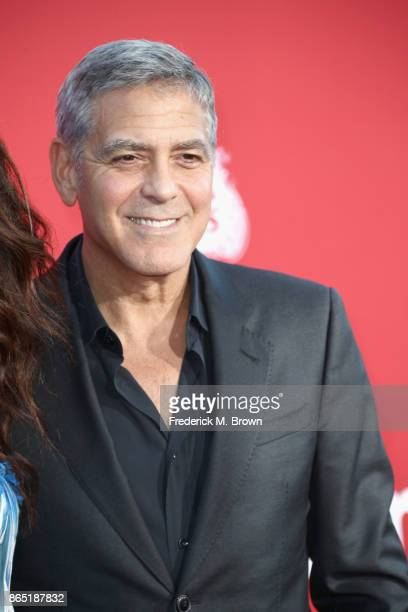 George Clooney at the Premiere of Paramount Pictures' 'Suburbicon' at Regency Village Theatre on October 22 2017 in Westwood California