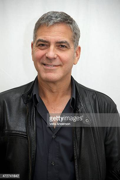 George Clooney at the 'Tomorrowland' Press Conference at the Montage Hotel on May 8 2015 in Beverly Hills California