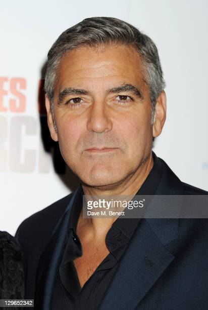 George Clooney attends a Gala Screening of 'The Ides Of March' during the 55th BFI London Film Festival at Odeon Leicester Square on October 19 2011...